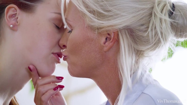 kathy anderson & charli red – redhead and blonde lesbian sex
